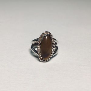 Jewelry - Sterling a Silver Tiger Eye Ring